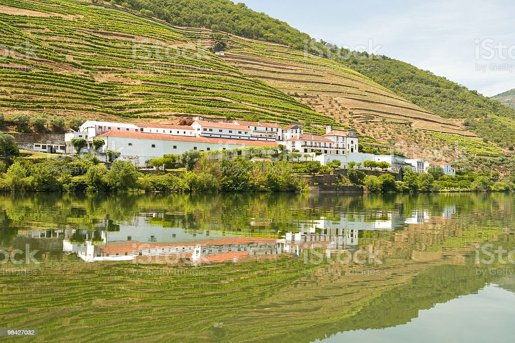 Hotel reflections on River Douro royalty-free stock photo