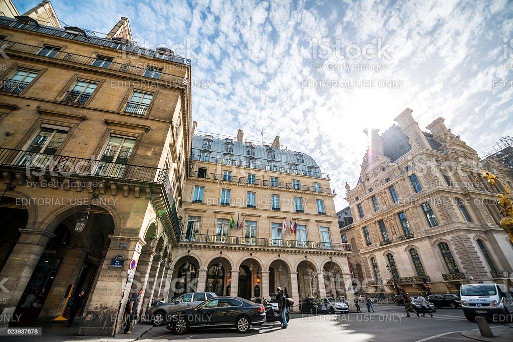 Hotel Regina, Paris, France stock photo