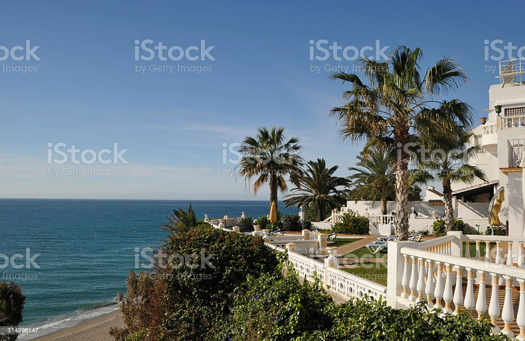 Hotel resort at the Costa del Sol royalty-free stock photo