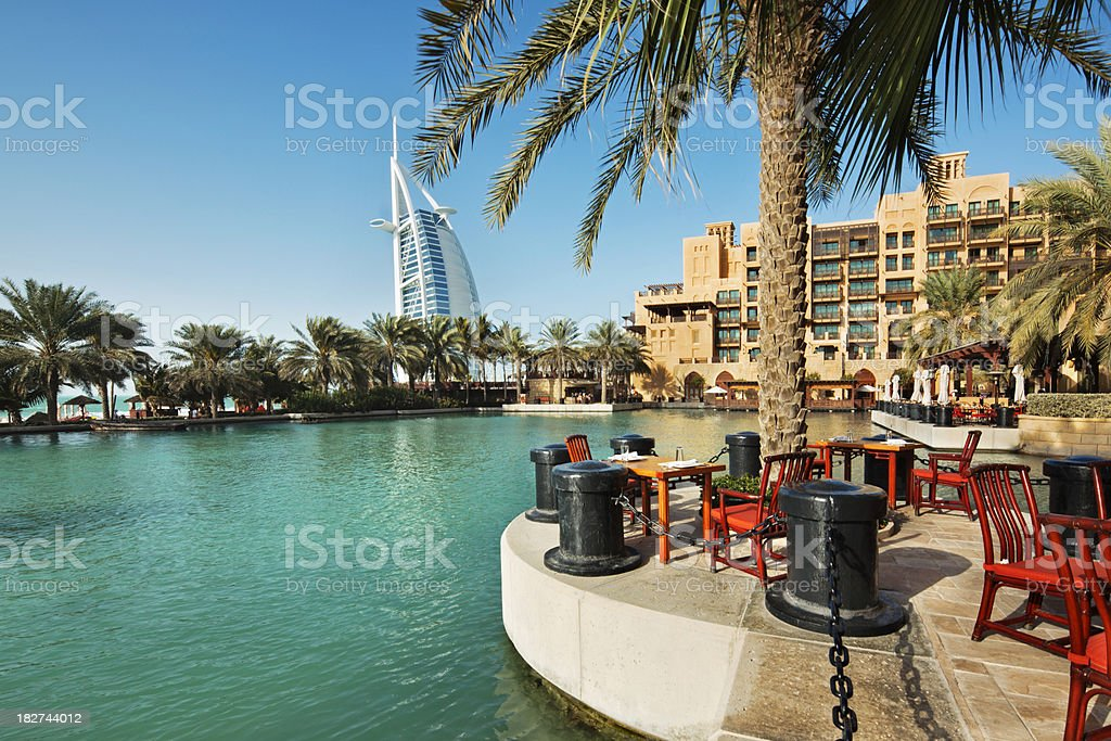 Hotel Resort Dubai stock photo