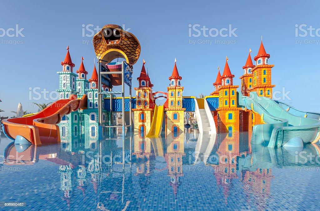 Hotel Resort Kiddie pool stock photo