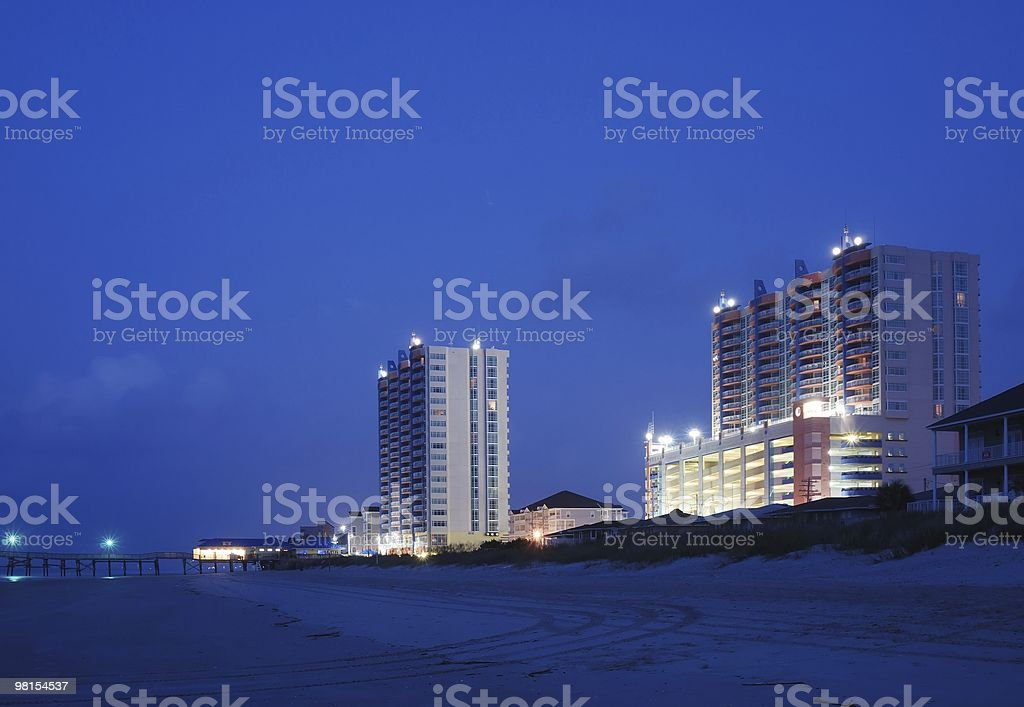 Hotel Resort on the Beach royalty-free stock photo