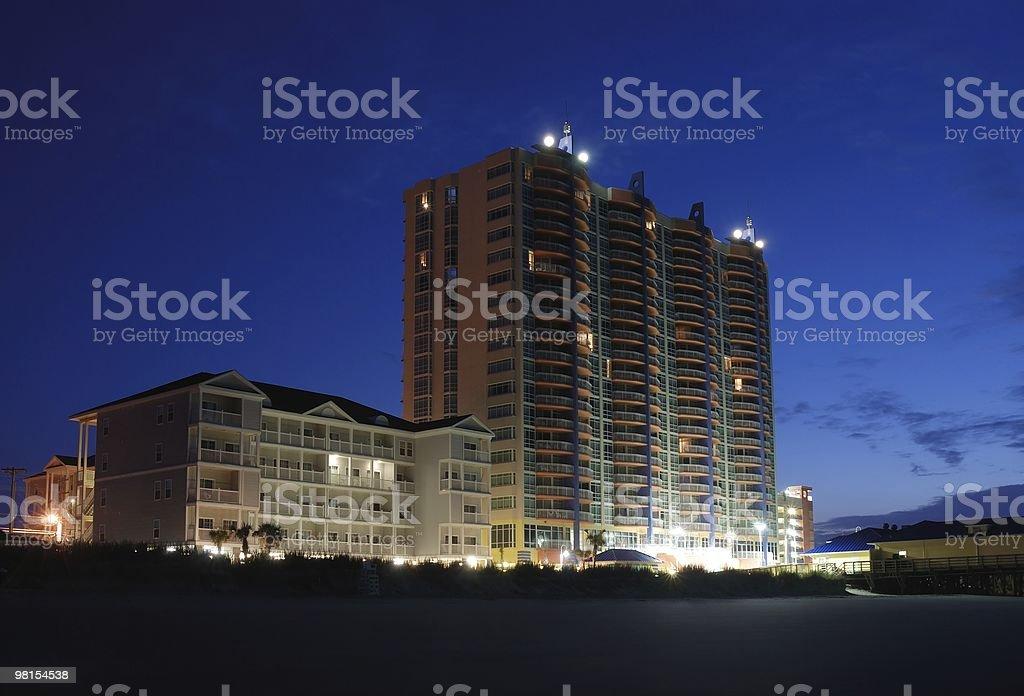 호텔 리조트 해변 royalty-free 스톡 사진