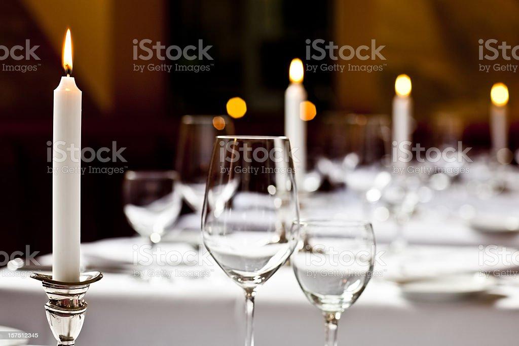 Hotel restaurant table royalty-free stock photo