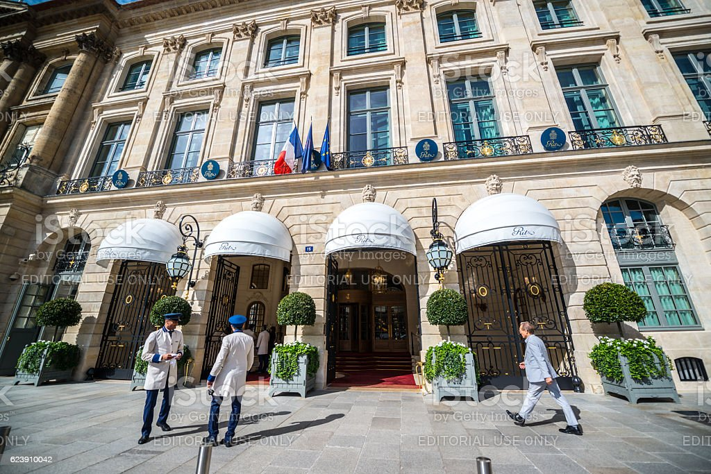 Hotel Ritz on Place Vendome, Paris stock photo