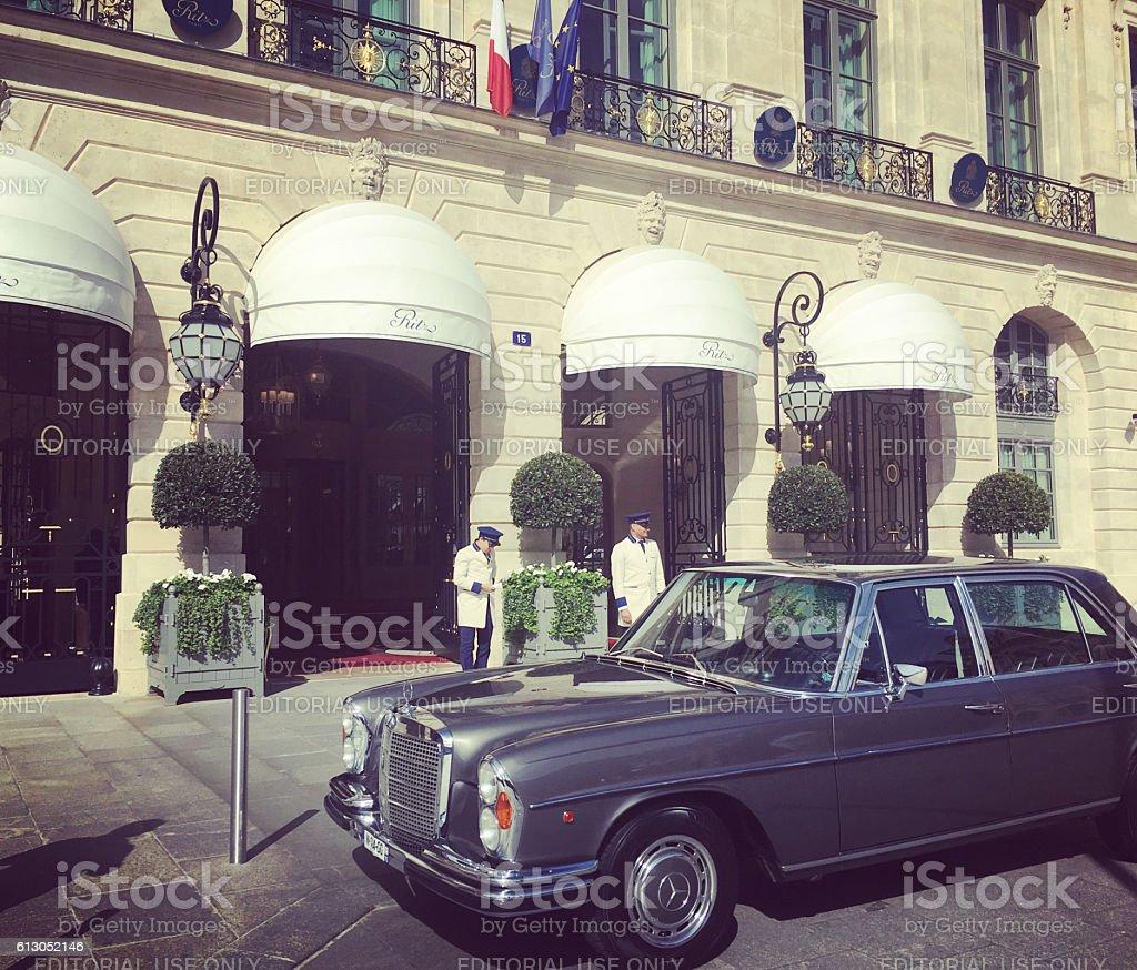 Hotel Ritz, Place Vendome, Paris stock photo