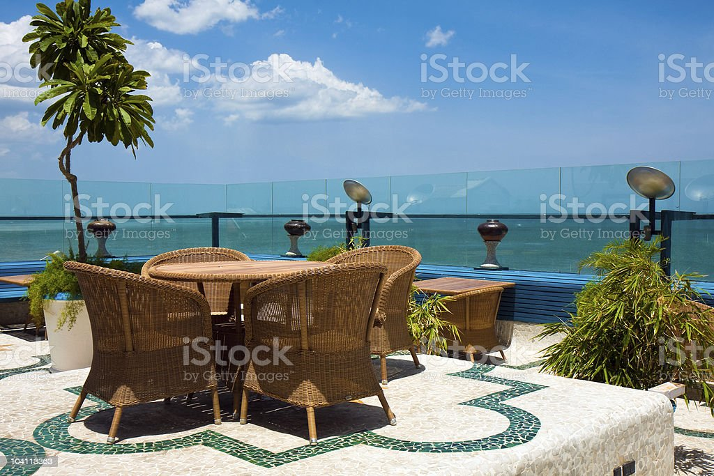 Hotel Rooftop stock photo