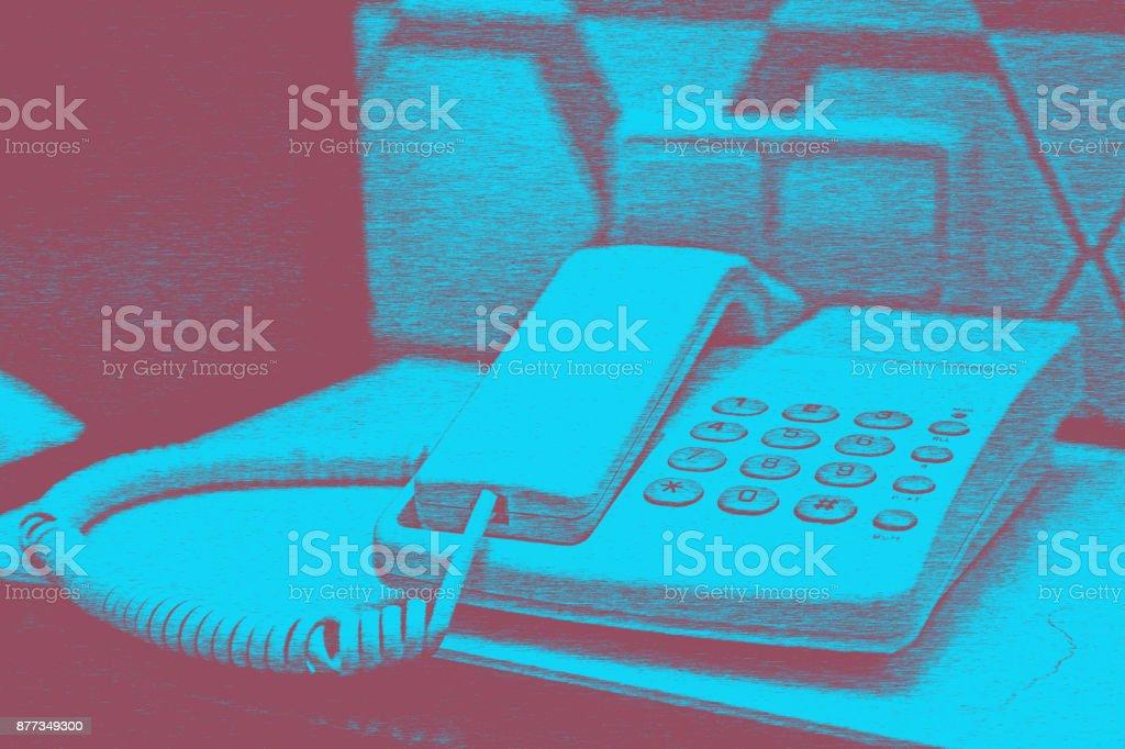 Hotel room background stock photo