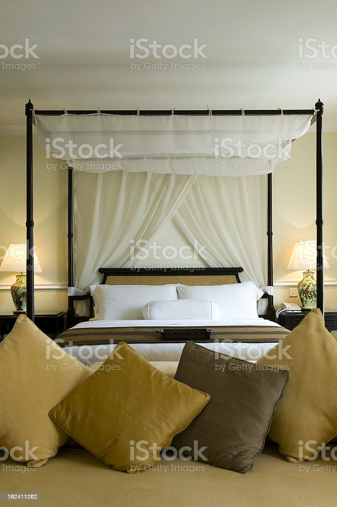 hotel room bed malaysia royalty-free stock photo