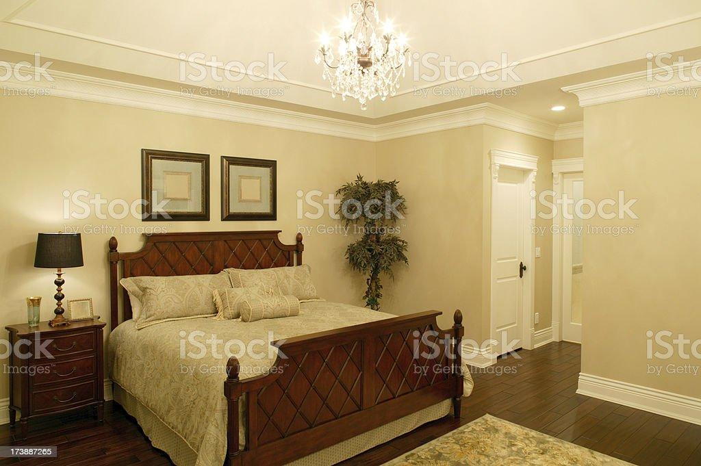 hotel room bedroom royalty-free stock photo