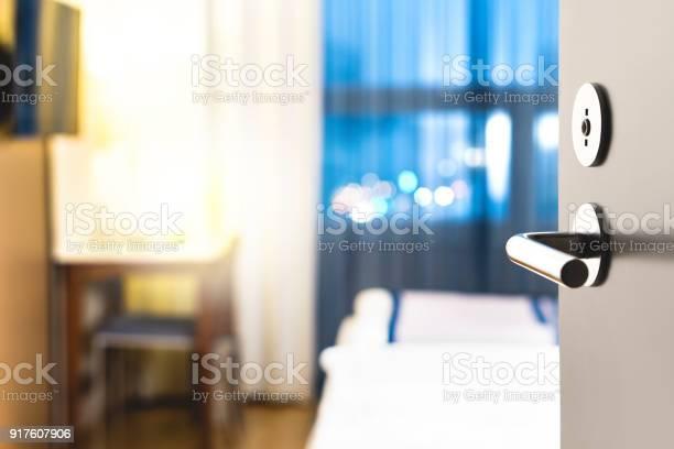 Hotel room door open clean and elegant accommodation service close up picture id917607906?b=1&k=6&m=917607906&s=612x612&h=k1m3mtlzc3i4fs6uypcr7vckabv7we8htnb7u5farnu=
