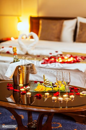 istock Hotel room for a honeymoon 956322292