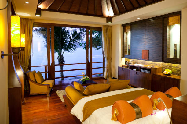 zimmer in phuket, thailand - ferienhaus thailand stock-fotos und bilder