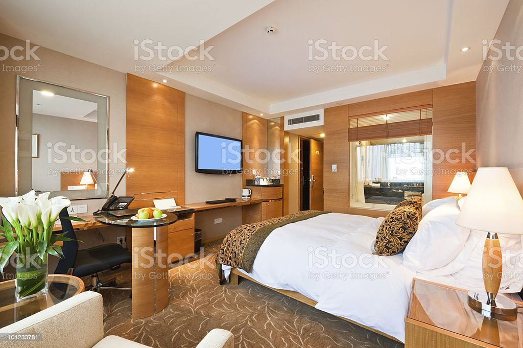hotel room interior stock photo