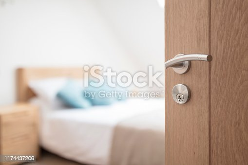 istock Hotel room or apartment doorway 1174437206