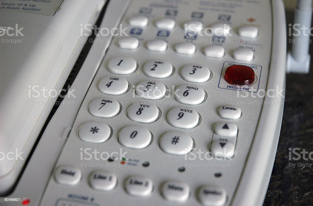 Hotel room phone royalty-free stock photo
