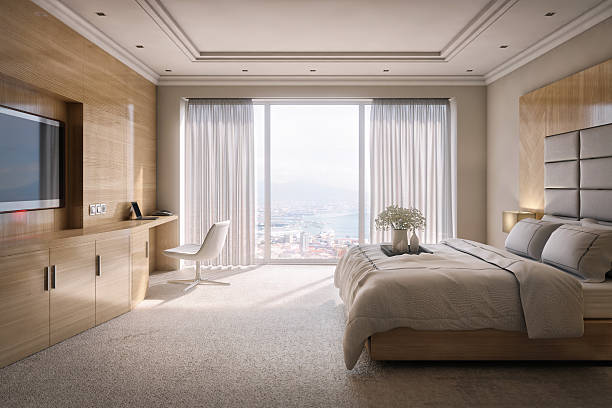 Hotel Room Suite with View - foto de stock
