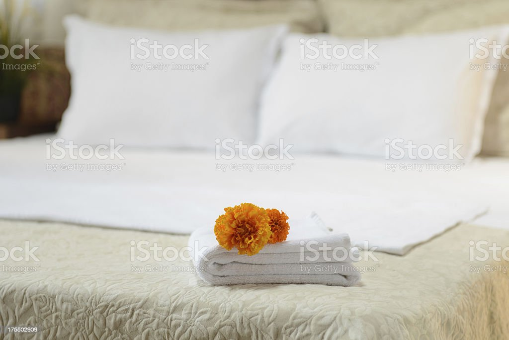 hotel room towels royalty-free stock photo
