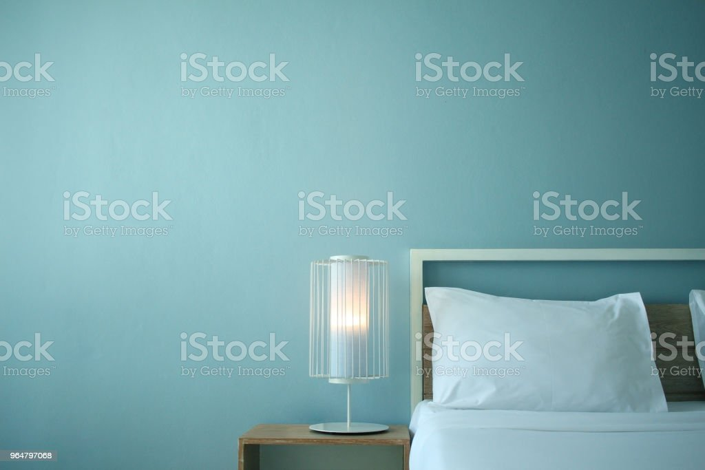 Hotel room with modern interior royalty-free stock photo