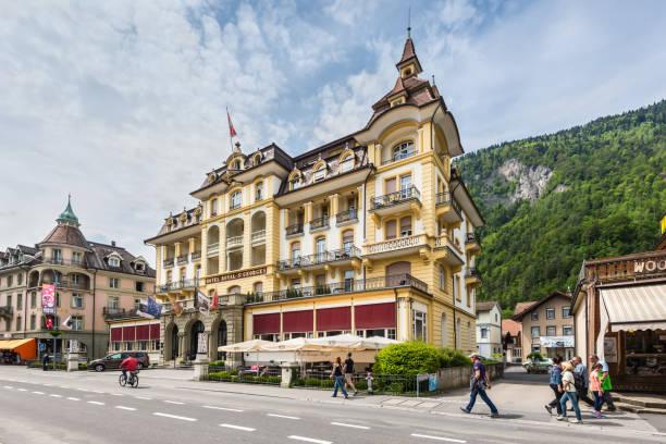 hotel royal st. georges interlaken mgallery von sofitel - hotel bern stock-fotos und bilder
