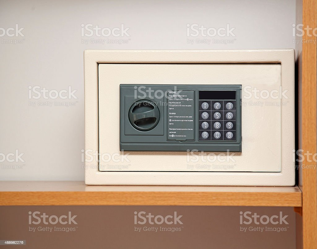 Hotel safe stock photo