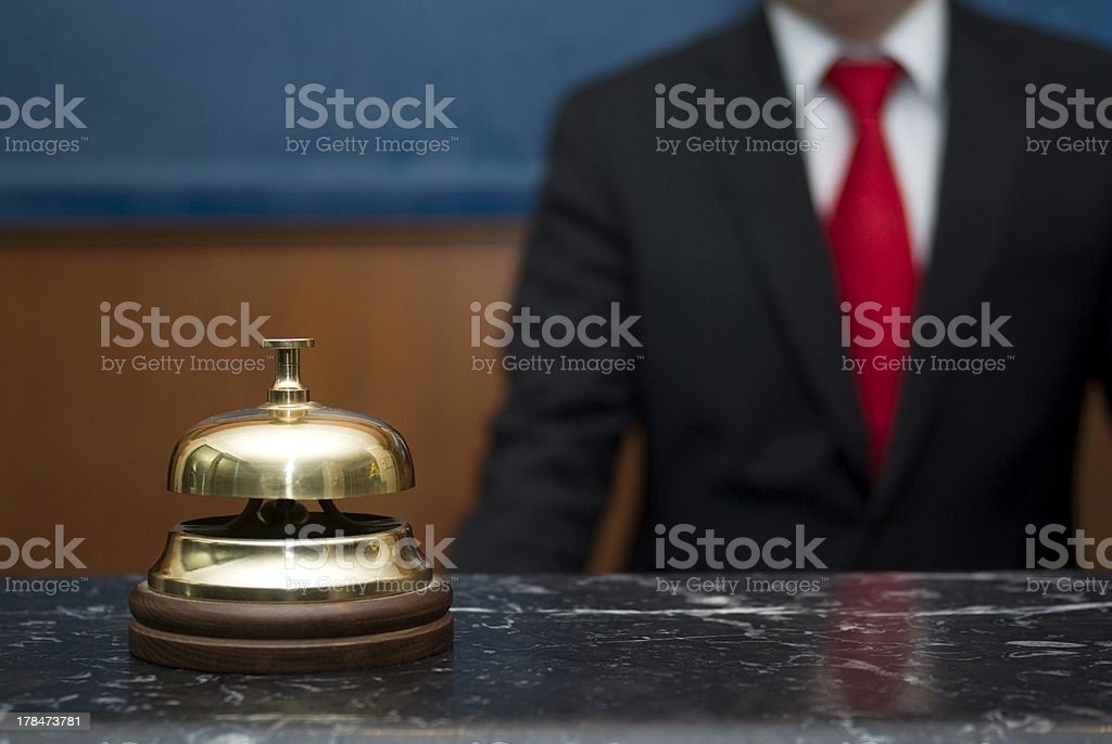Hotel service bell stock photo