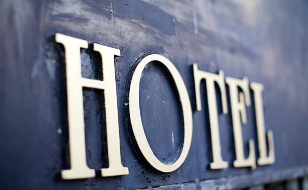 hotel-schild - hotel mailand stock-fotos und bilder