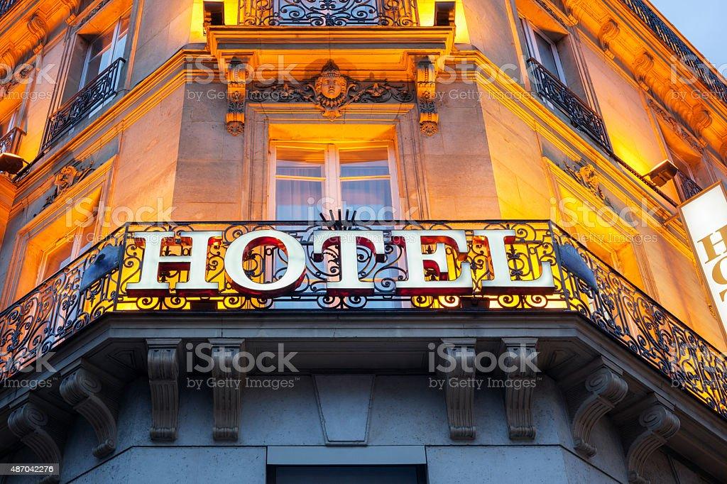 Placa do Hotel - foto de acervo