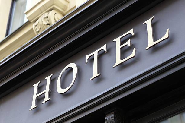 Señal del Hotel - foto de stock