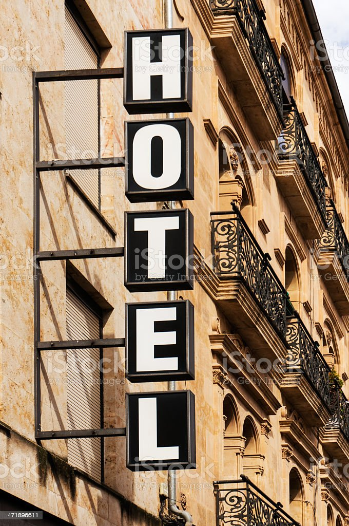 Hotel Sign Vertical royalty-free stock photo