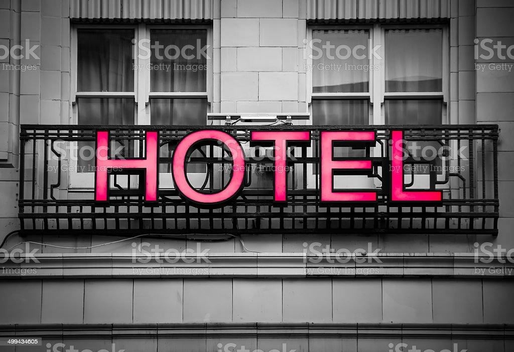 hotel signboard stock photo