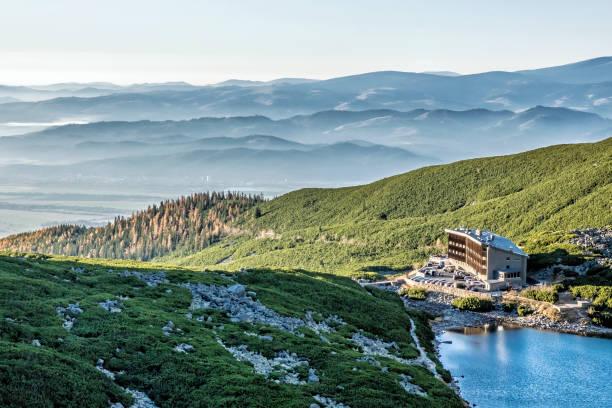 호텔 슬리에스키 돔 앤벨리키 타른, 슬로바키아 스톡 사진