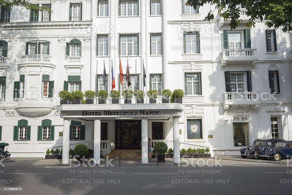 Hotel Sofitel Legend Metropole Hanoi stock photo