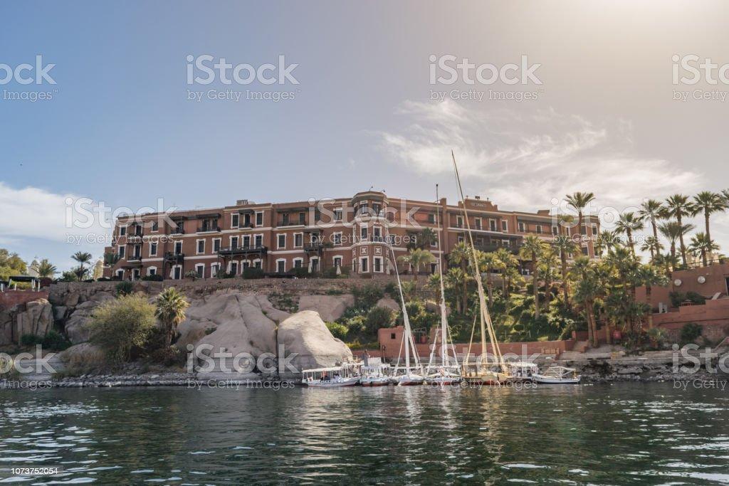 Hotel Sofitel Legend Old Cataract Aswan Egypt Stock Photo