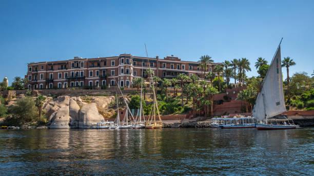 Hotel Sofitel Legend Old Cataract Aswan, Egypt stock photo