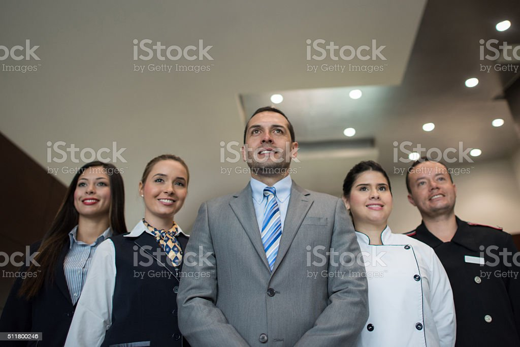 Hotel staff stock photo