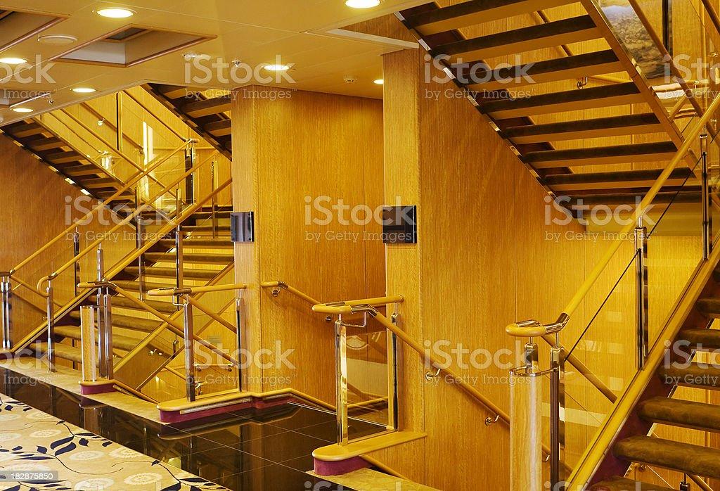 Hotel staircase, mood lighting stock photo