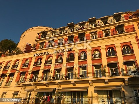 istock Hotel Suisse exterior Promenade des Anglais in Nice France 1177855866