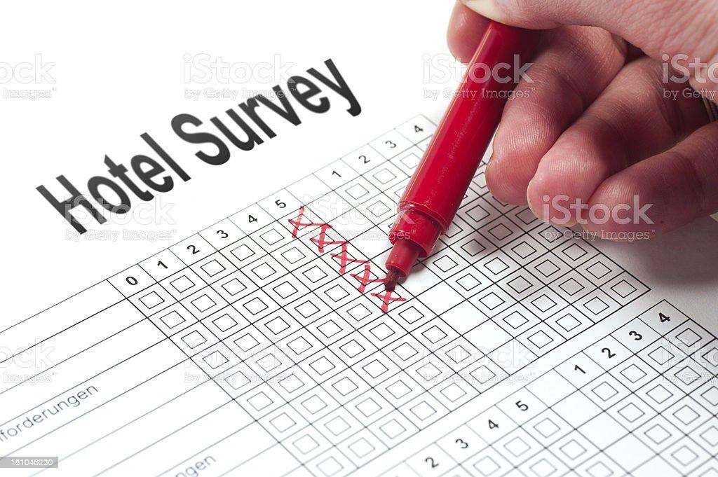 Hotel Survey royalty-free stock photo