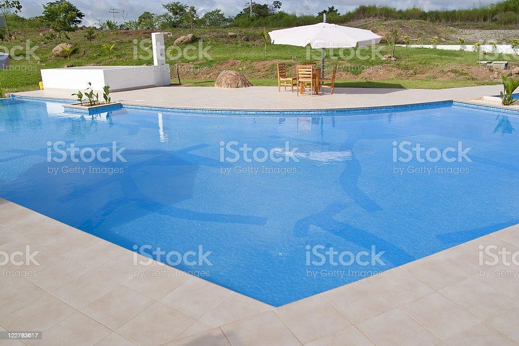Hotel swimming pool in Panama royalty-free stock photo