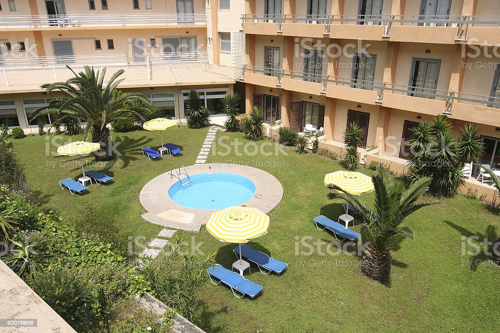 Hotel Swimming Pool royalty-free stock photo