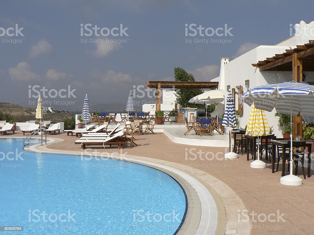 Hotel swimming pool royalty-free stock photo
