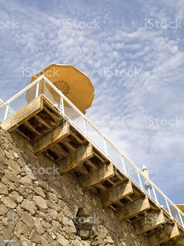 Hotel Terrace royalty-free stock photo