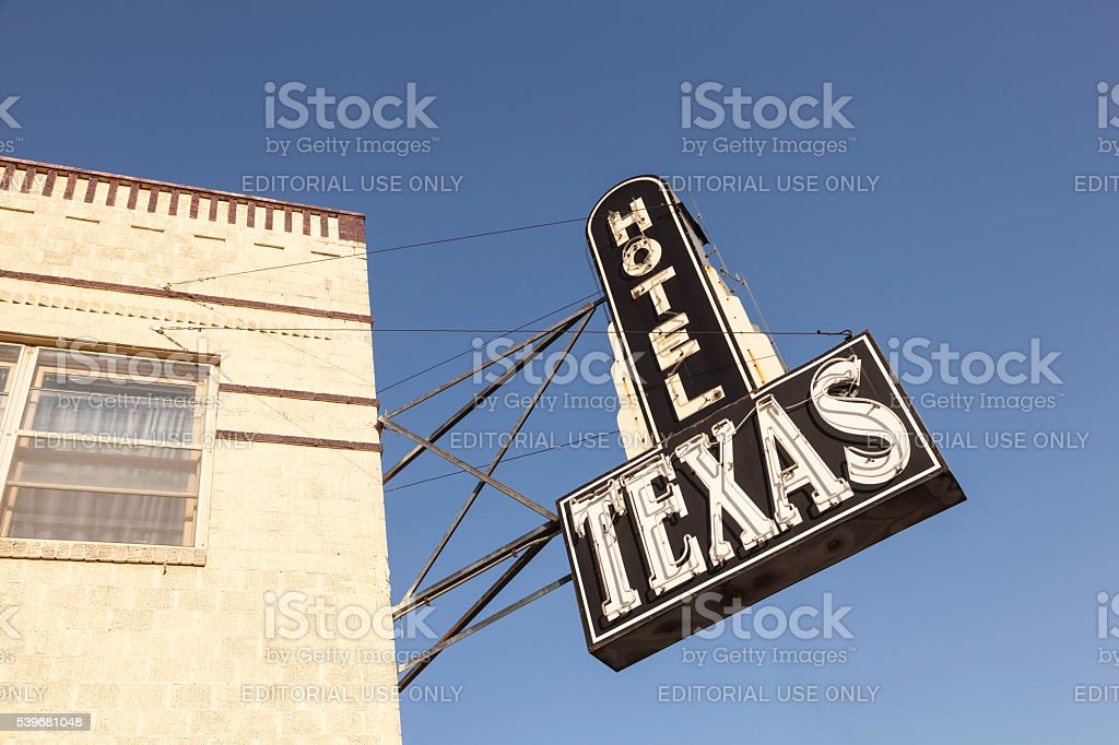 Hotel Texas in Fort Worth, USA stock photo