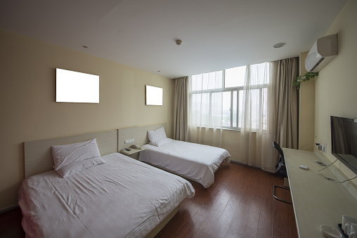 Hotel two single beds