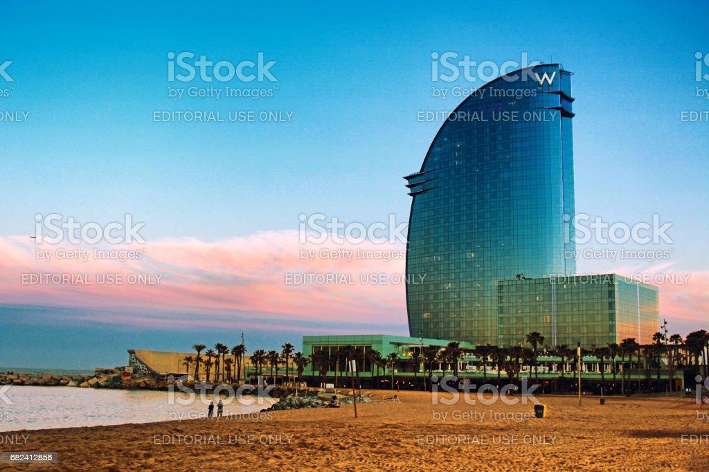 Hotel Vela Barcelona stock photo