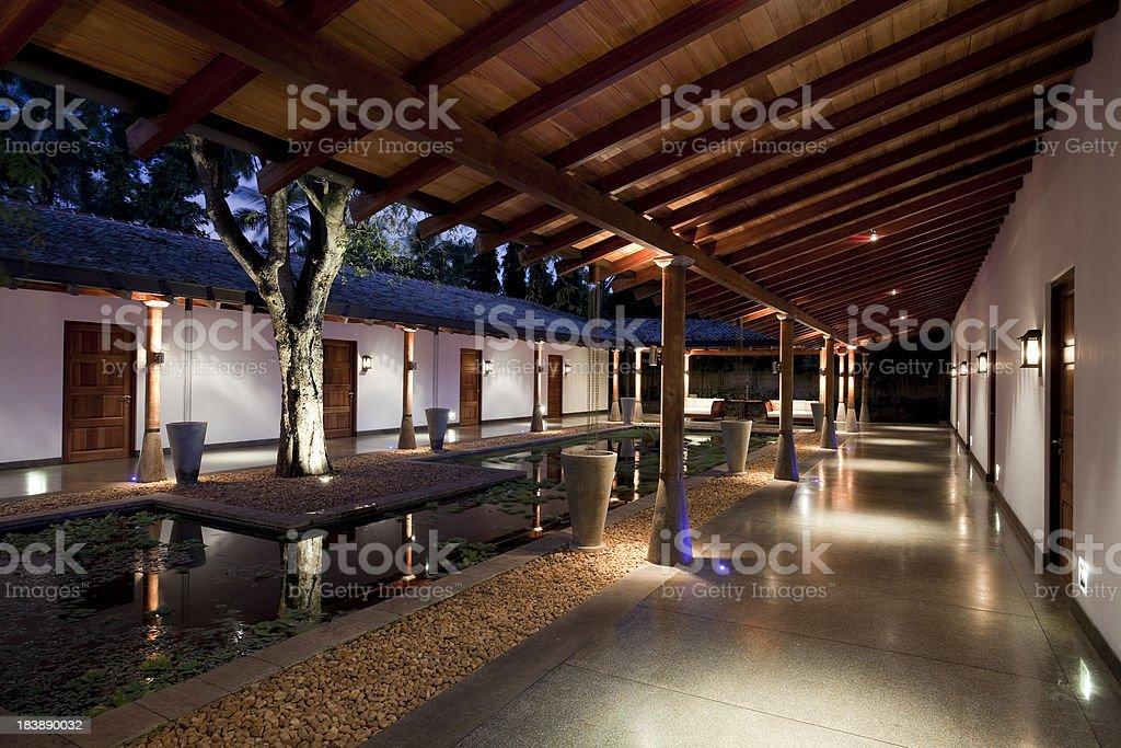 hotel villa royalty-free stock photo