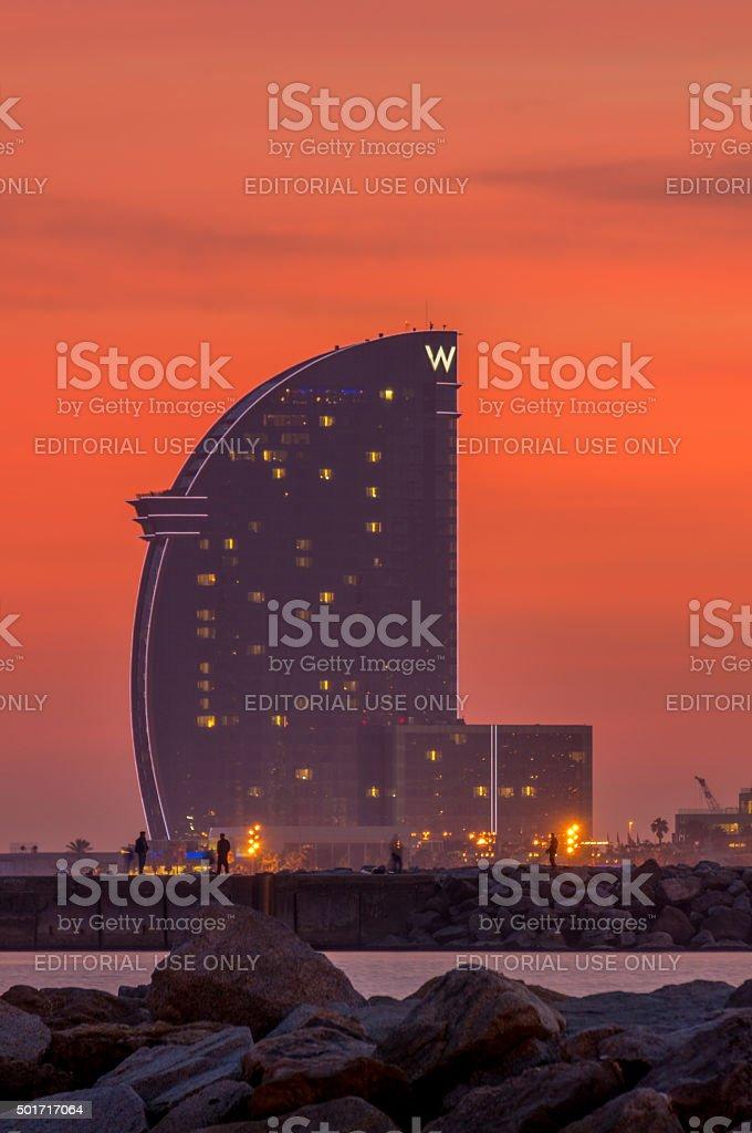 Hotel W Barcelona stock photo