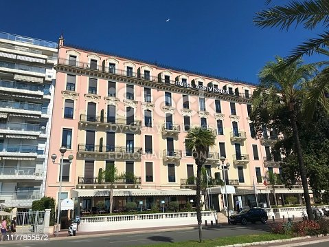 istock Hotel Westminster on Promenade des Anglais in Nice France 1177855672