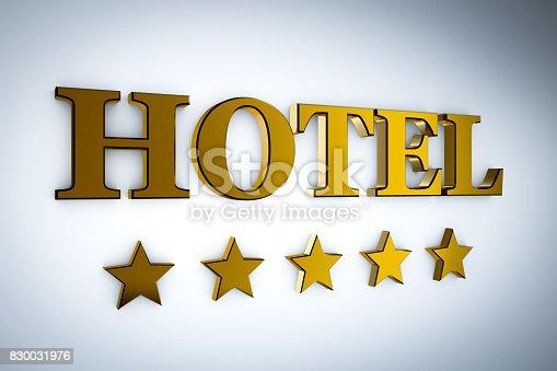 istock hotel with stars 830031976